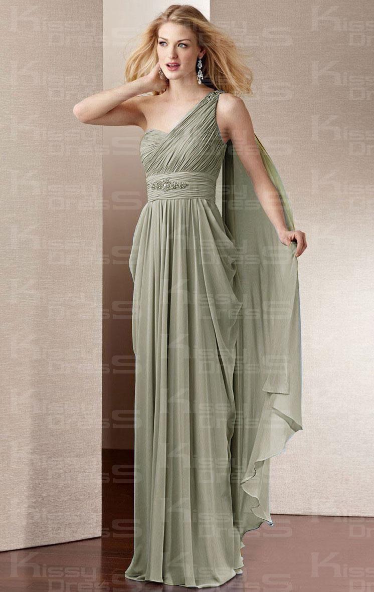 chiffon sheathcolumn oneshoulder floorlength prom dress