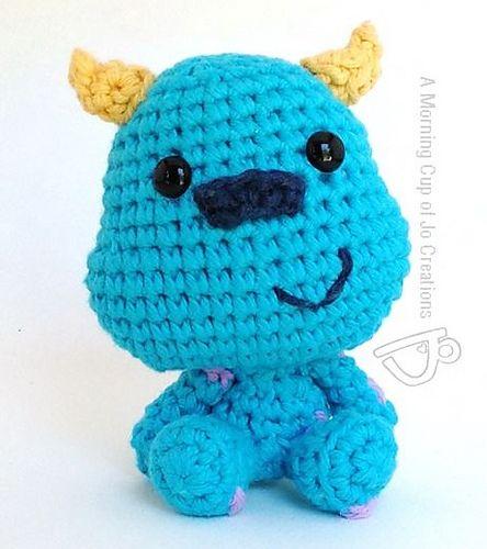 Disney Pixar Inspired 'Monsters Inc-Sulley' - Amigurumi -Crochet ... | 500x444