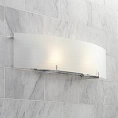 A Clean Contemporary Bathroom Light Fixture With Crisp Geometric Lines Includes Two 150 Watt Halogen Bulbs Style 16786 At Lamps Plus