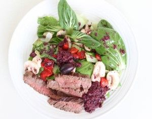 Chopped bok choy and steak salad with olive dressing primal chopped bok choy and steak salad with olive dressing primal blueprint meal plan malvernweather Image collections