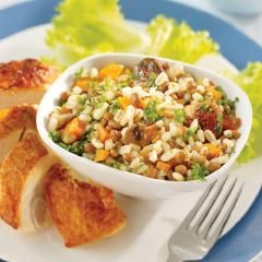 Hearty Mushroom Barley Pilaf - this looks like a great side dish for a Spring meal!