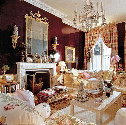 Patricia Altschul Home Mario Buatta A Room Designed At The Request Of Barbara Walters For