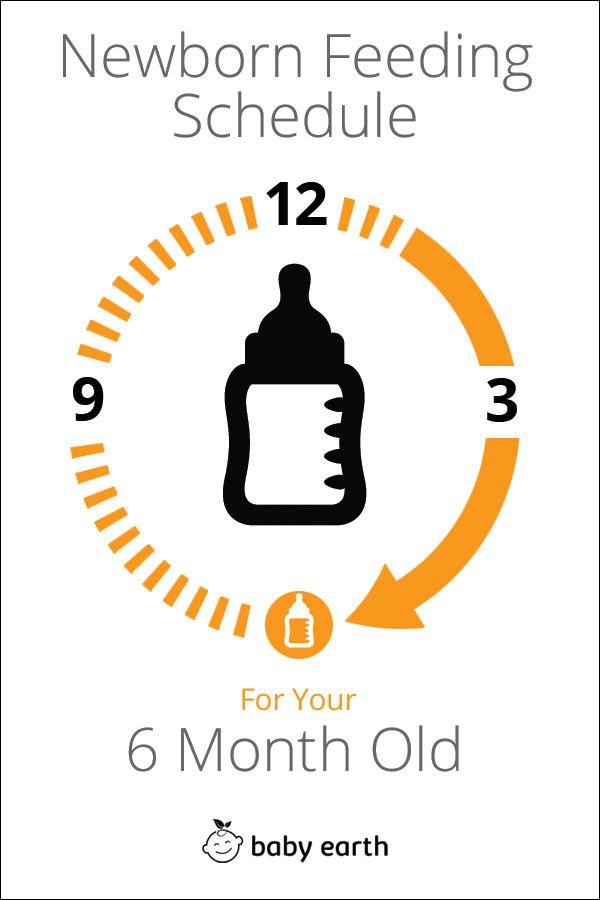 6-Month-Old Feeding Schedule | 6 month olds, Newborn ...