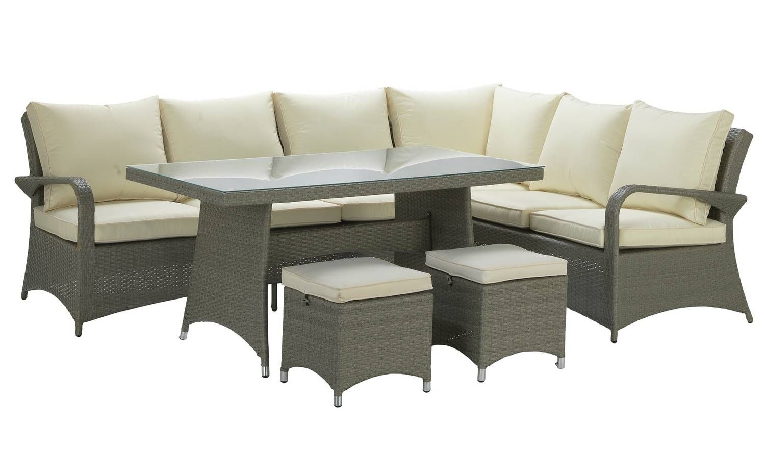 Buy Argos Home Seychelles Rattan Effect Corner Dining Set Grey Garden Table And Chair Sets Argos Corner Dining Set Garden Table And Chairs Argos Home