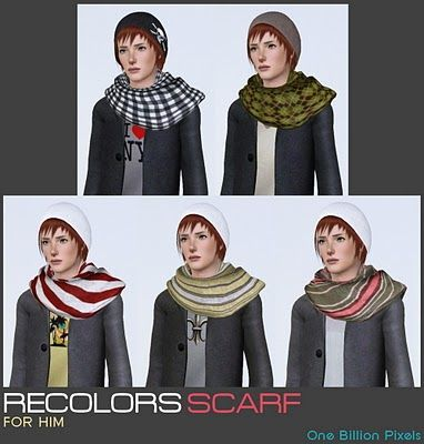 One Billion Pixels - Fully Recolorable Scarf For Females & Males #Sims3