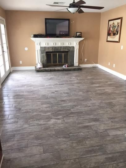 Marazzi montagna dapple gray in  porcelain floor and wall tile sq ft case ulm the home depot also image result for herringbone vinyl tiles living room