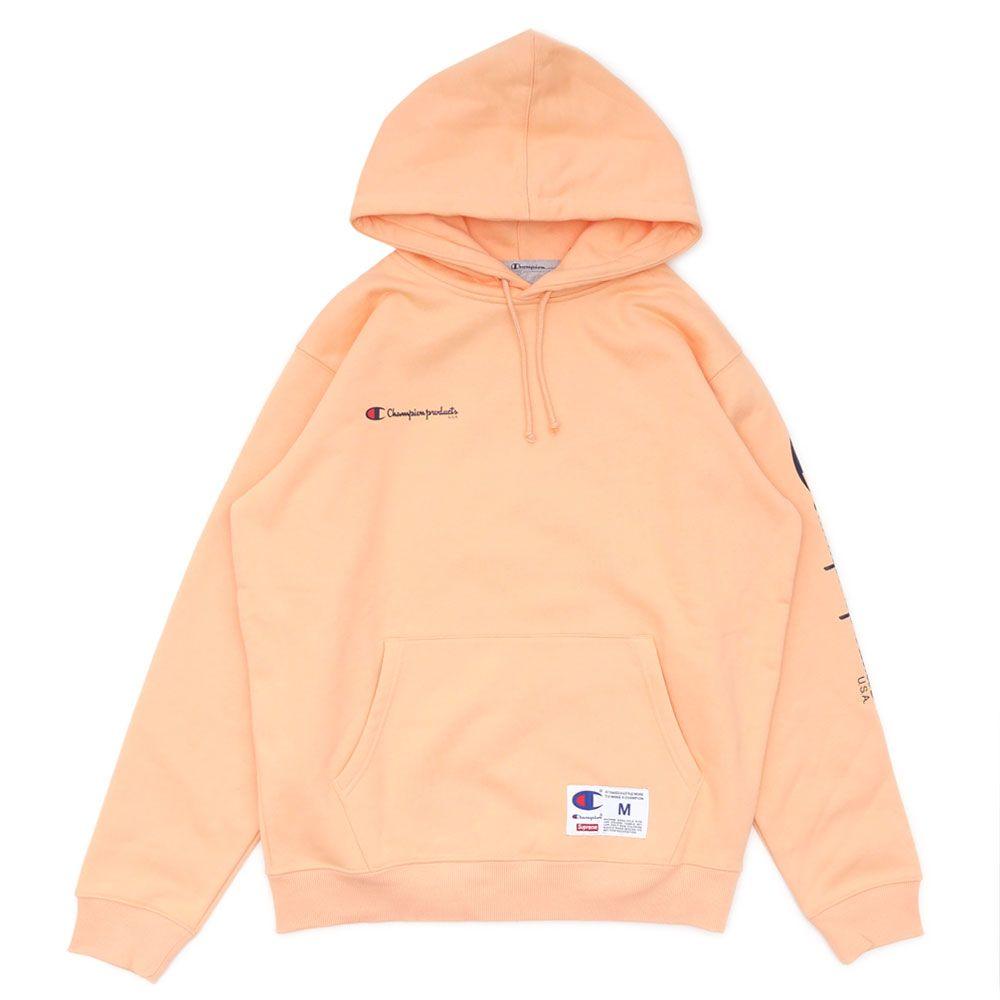Supreme Champion Hooded Sweatshirt Peach Supreme Cloth Champion Hooded Sweatshirt Hooded Sweatshirts Raincoat Outfit [ 1000 x 1000 Pixel ]