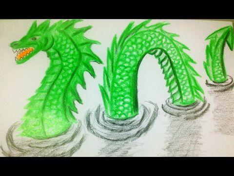 Drawing 3D Loch Ness Monster - Creative Media   Loch ness ...