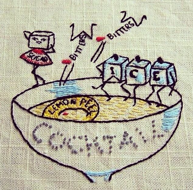 Cocktail embroidery inspiration