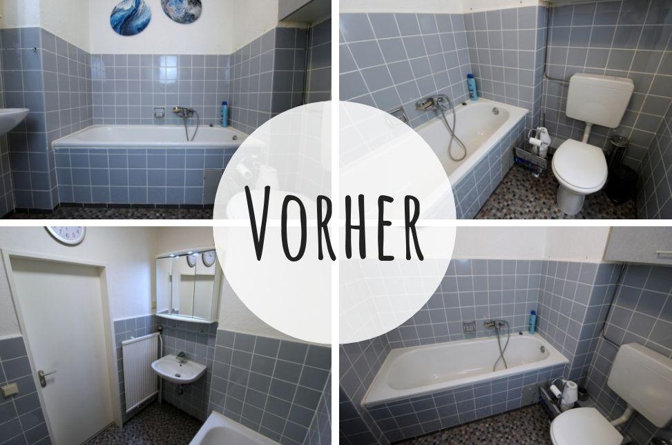 Diy Badezimmer Streichen Und Renovieren Mit Fliesenfarbe In 2020 Badezimmer Streichen Neues Badezimmer Schoner Wohnen Fliesen