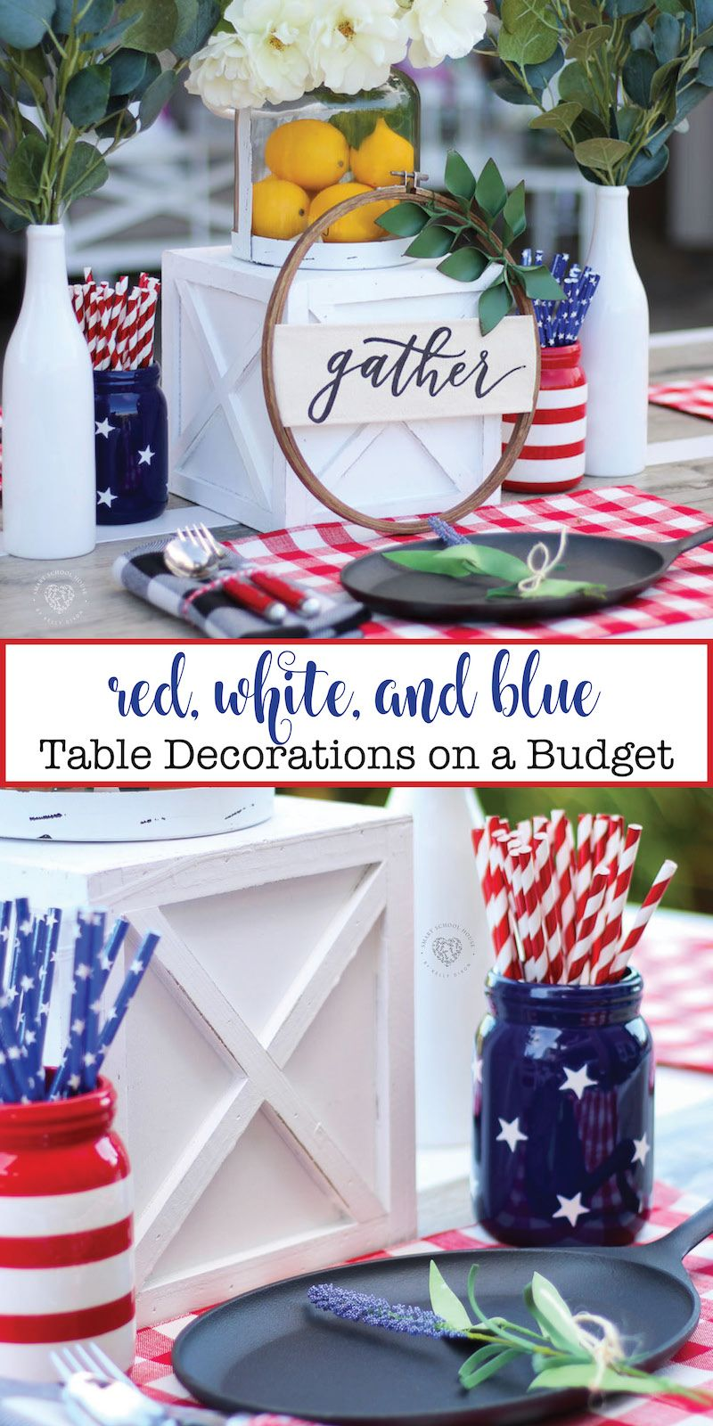 Red White And Blue Table Decorations Pinterest Best Pinterest