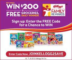 Free Kelloggs Family Rewards Point Codes Free Groceries Coding