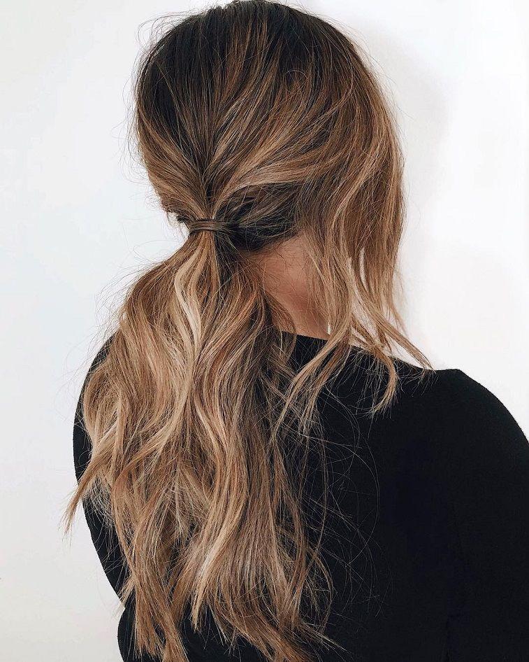 textured ponytails, Braids half up half down hairstyle , boho hairstyle ,updo ,wedding hairstyles #hair #hairstyles
