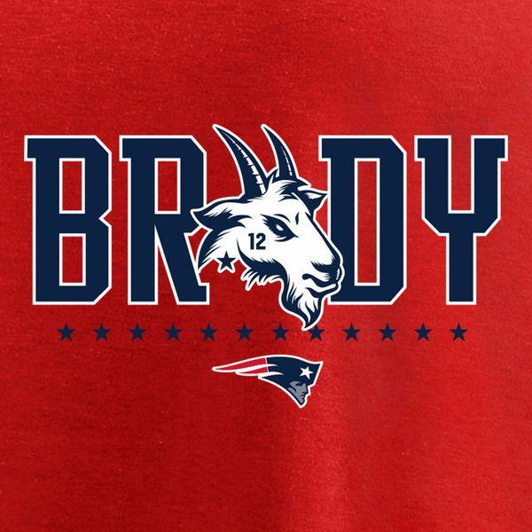 Men s New England Patriots Tom Brady Fanatics Branded Red GOAT Graphic T- Shirt - NFLShop.com 1a1437861