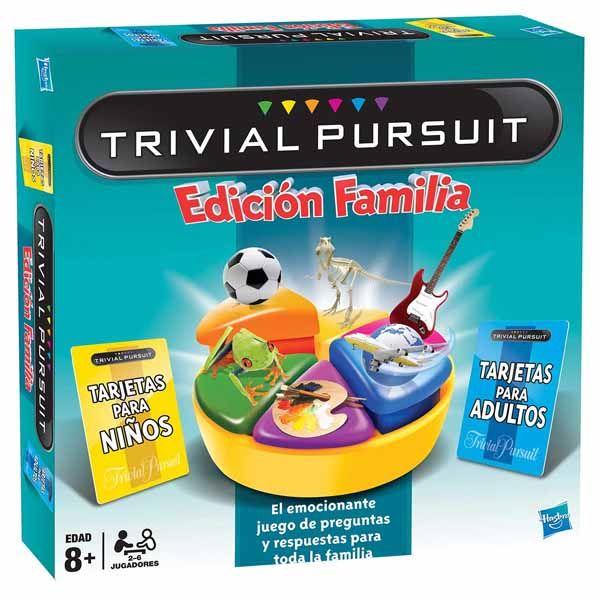 Trivial Pursuit edción Familia es un juego de mesa de preguntas y respuestas típico, como otras ediciones de Trivial, pero con una novedad única hasta el momento. Ahora pueden disfrutar de una partida de Trivial tanto adultos como los niños a la vez.