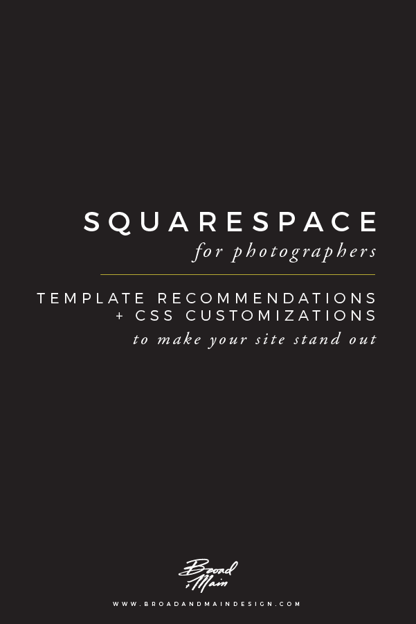 Squarespace For Photographers Template Recommendations And Css