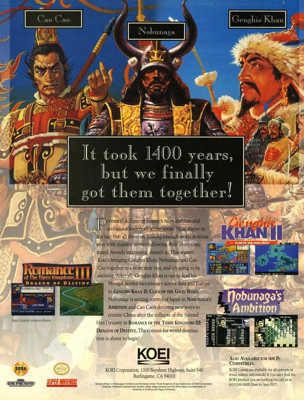 Three ruthless warlords, together at last (1994)  #Genesis #SNES