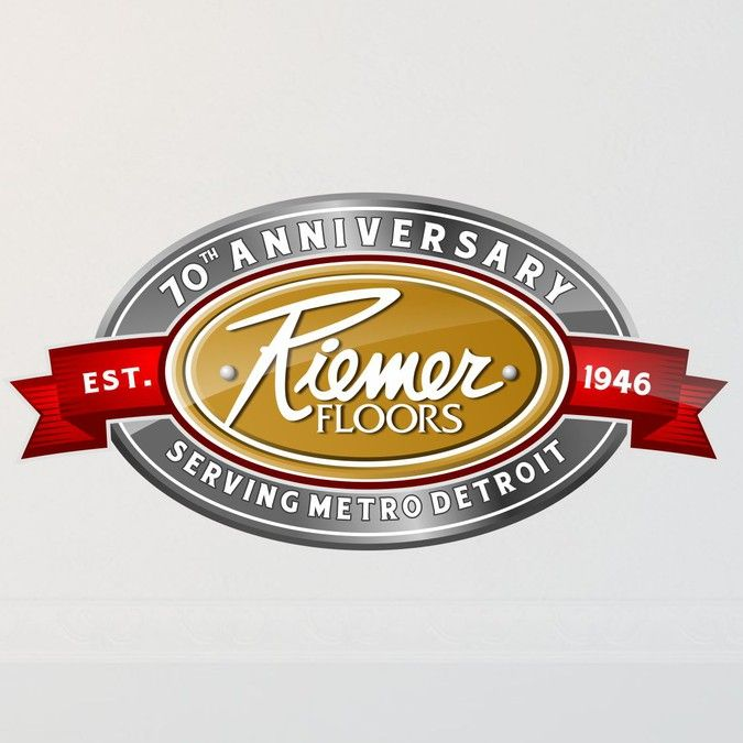 Create A 70th Anniversary Logo For Riemer Floors By Benk_lab