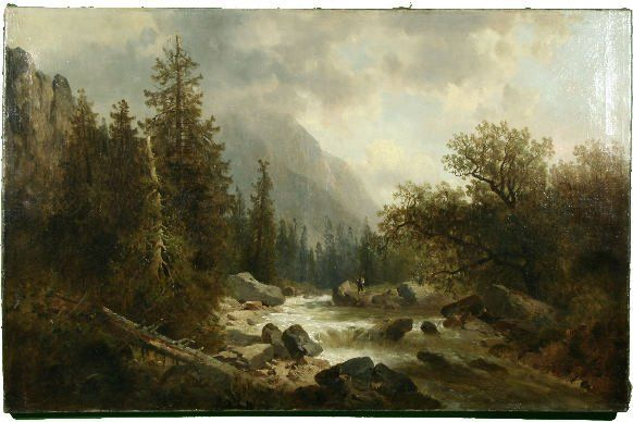 83 Thoma Austrian View Of The Alps Oil Apr 12 2008 Trinity International Auctions In Ct Oil Painting Landscape Landscape Paintings Painter Artist