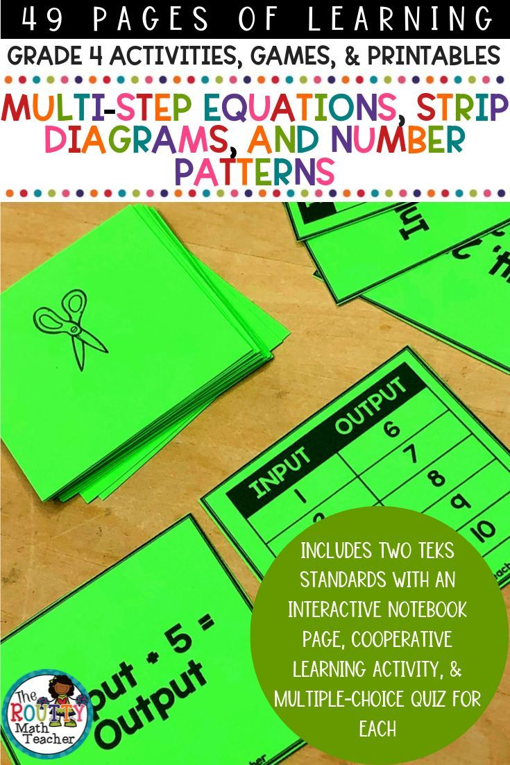 Multi Step Equations And Patterns And Sequences