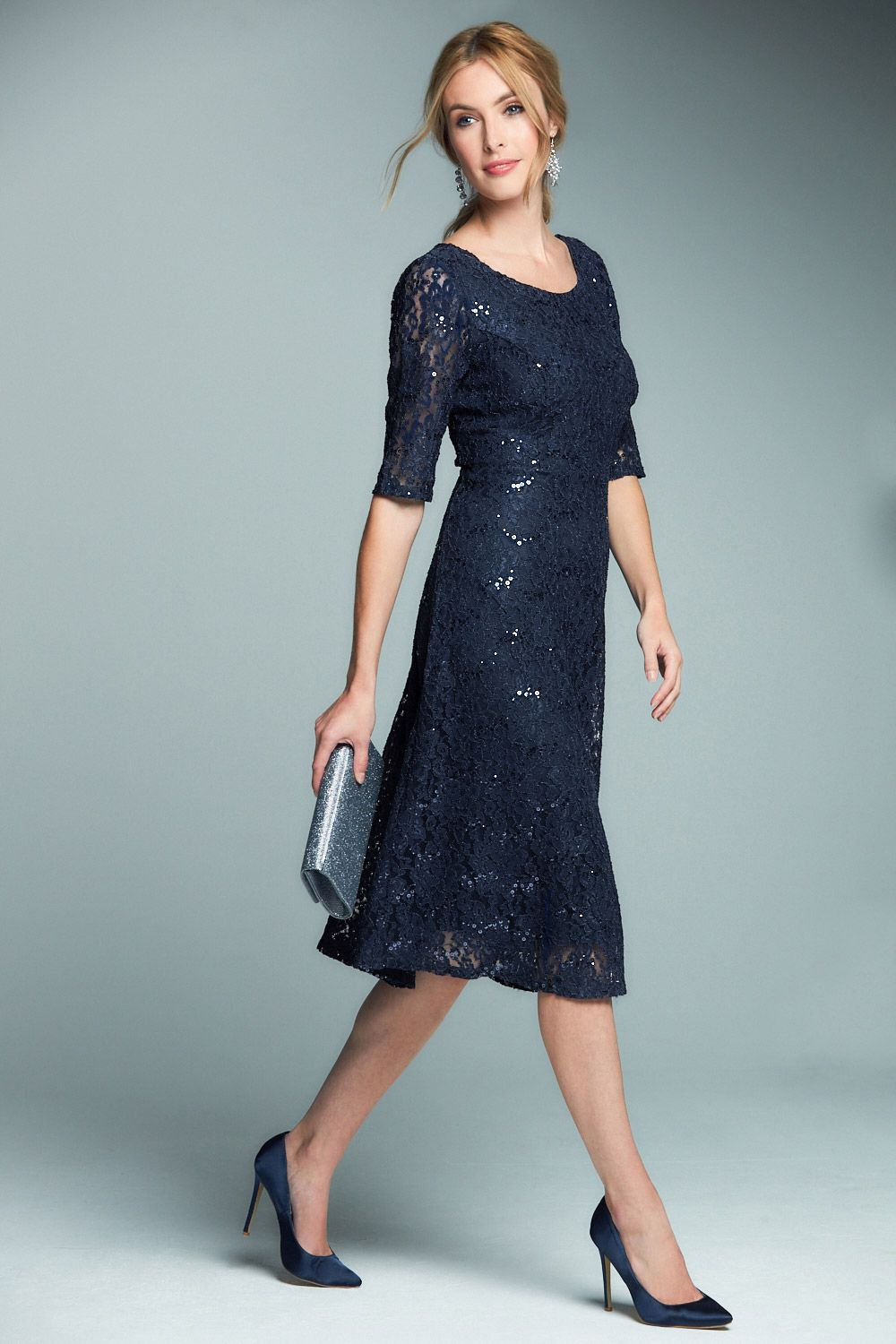 Short Sleeve Sequin Lace Dress | Women\'s Fashion | Pinterest | Lace ...