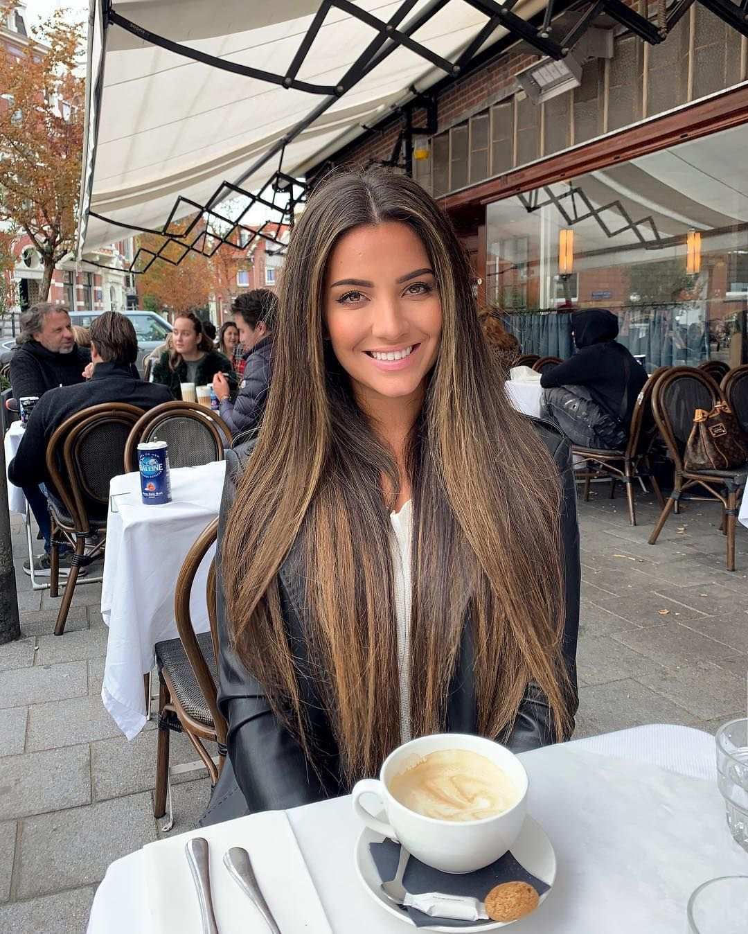 """Stephanie Abu-Sbeih on Instagram: """"Probably the last time sitting outside drinking coffee in Amsterdam this year 🍁"""""""