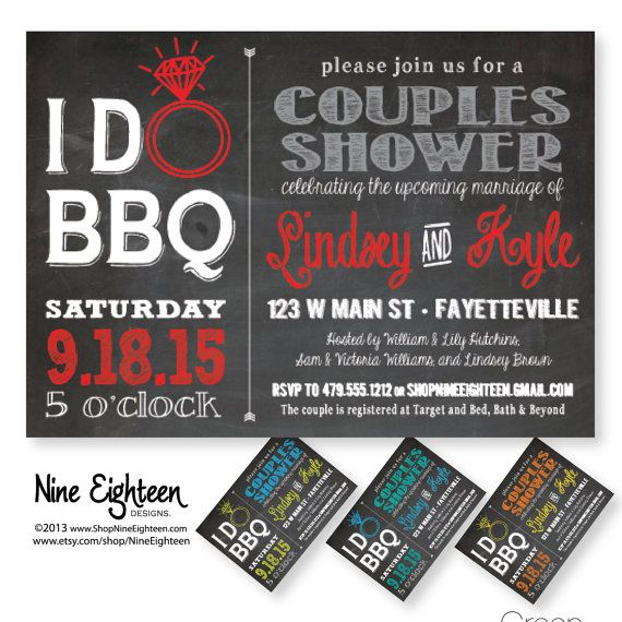 I Do BBQ Couples Shower Barbeque Bridal Shower. by NineEighteen, $12.00