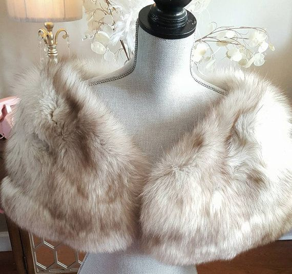 Luxury Vintage Fox Fur Stole  Fox Cape  by LuxuryVintageGirl