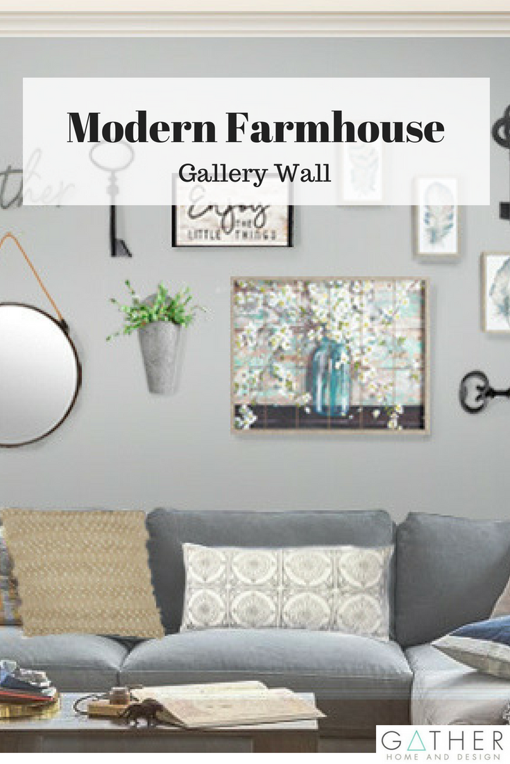 Check out this modern farmhouse gallery wall the perfect layout for