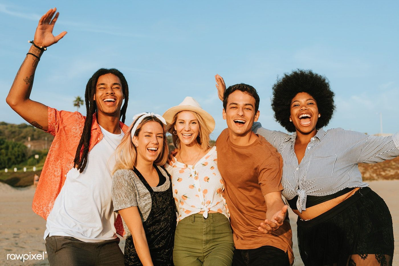 Download premium image of Group of diverse friends hanging out at the | Friends  hanging out, Beach friends, Hanging out