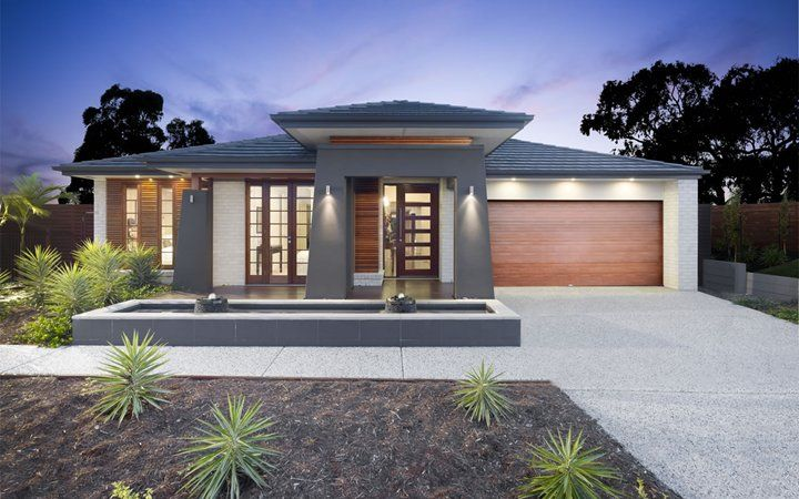 Front yard metricon bali style home reno ideas for Facade colour ideas