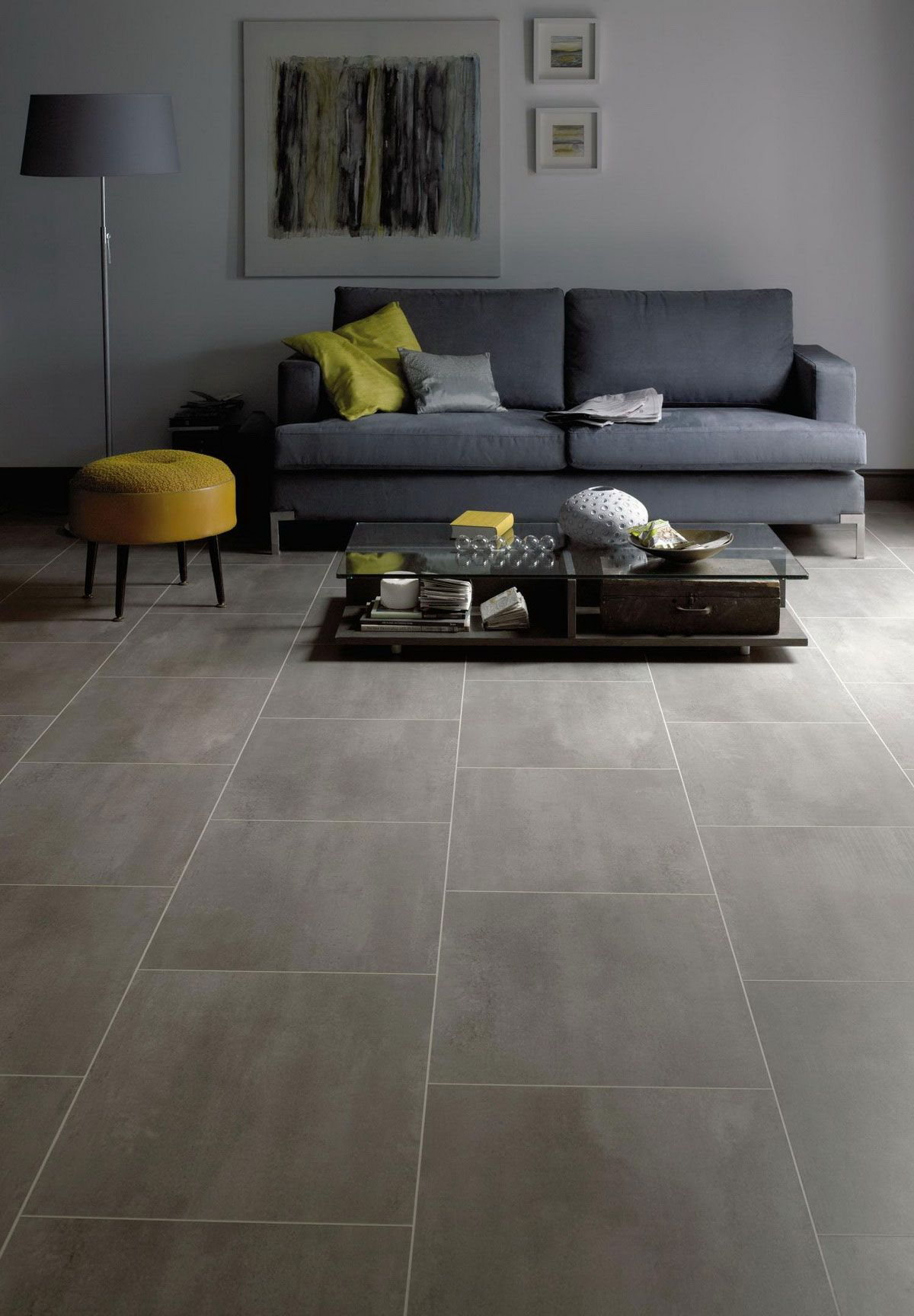 Love This Large Porcelain Tile Flooring Look Using Vinyl Flooring Instead Of