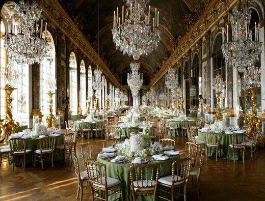Chandelier wedding...love it!