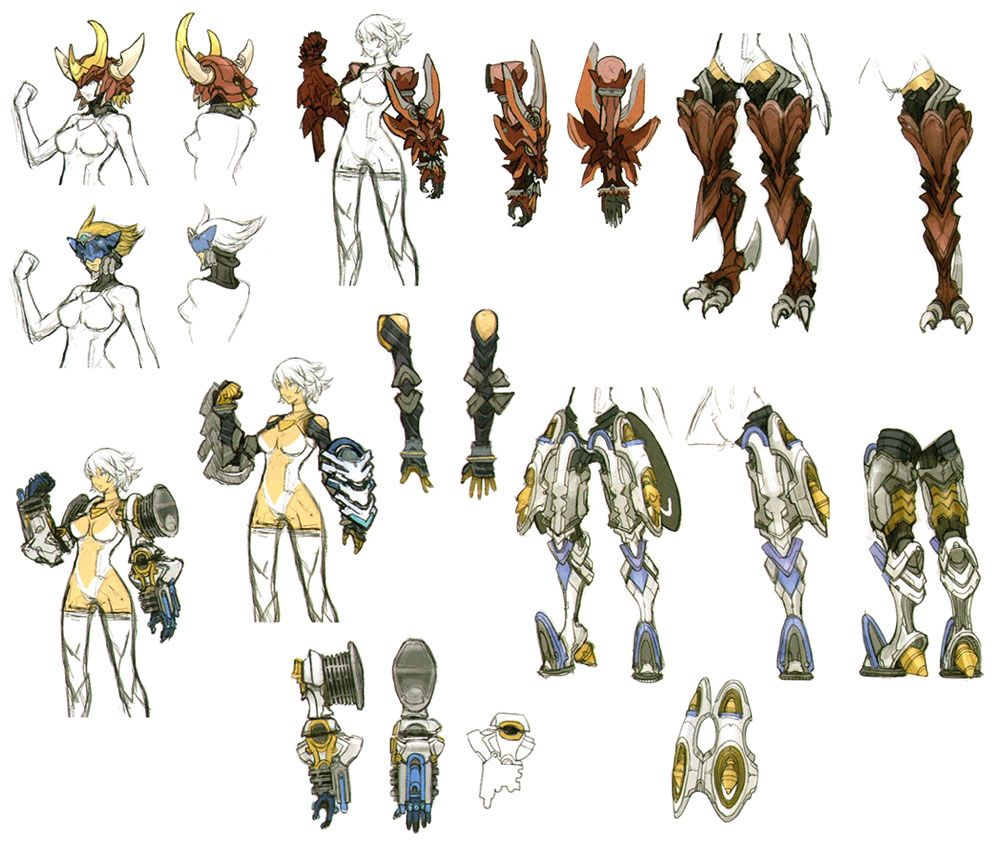 Character Design Xenoblade : Fiora concepts from xenoblade chronicles fav game