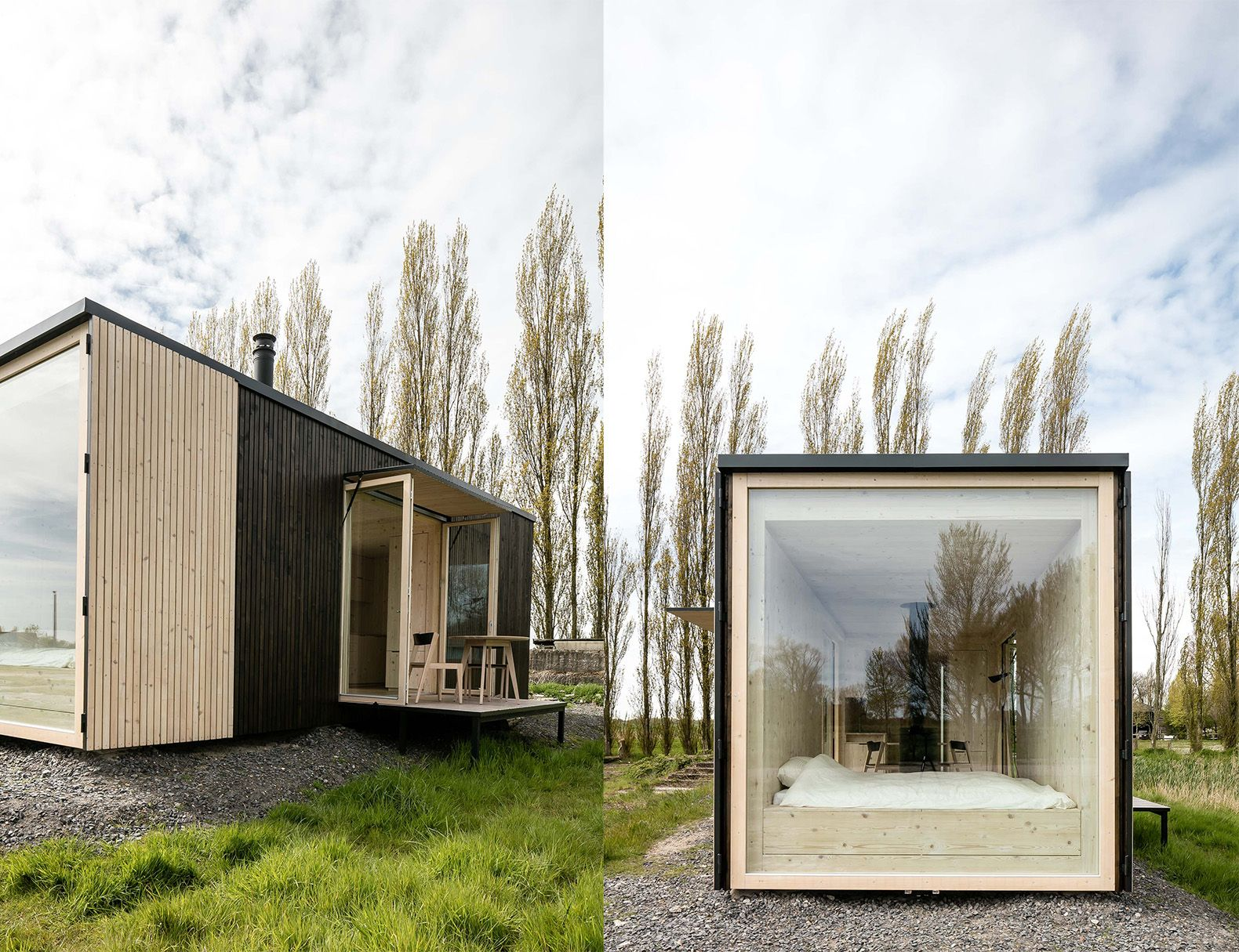 Off The Grid Prefab Homes Escape City Life In A Luxe Off Grid Cabin That Can Pop Up Almost