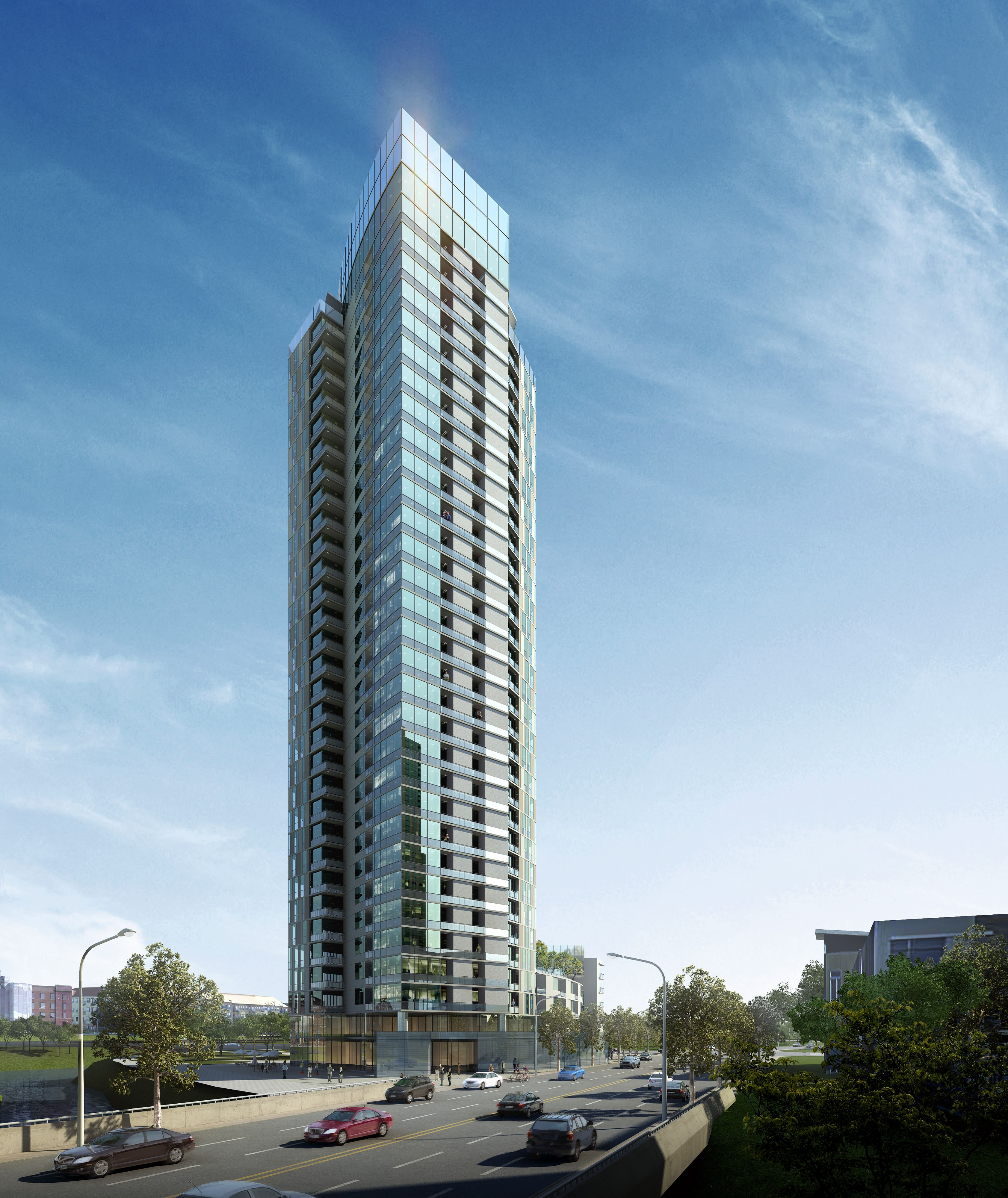 Luxury Apartment Building Entrance: Approved 34-Story Luxury Apartment Tower To Rise In Denver