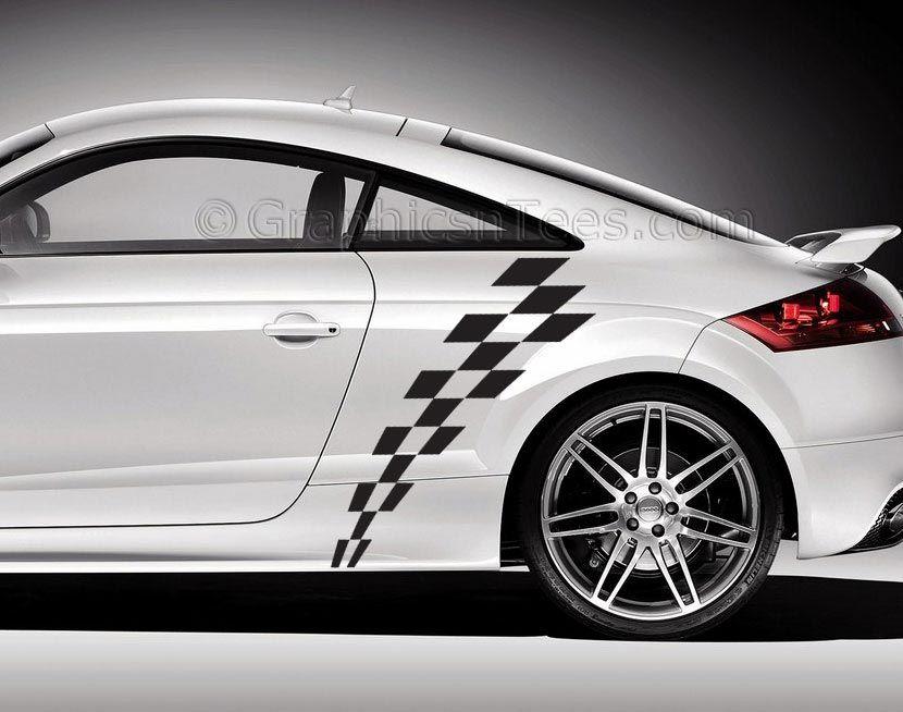 Superb Audi TT Checkered Check Chequered Flag Design Gr - Checkered flag audi