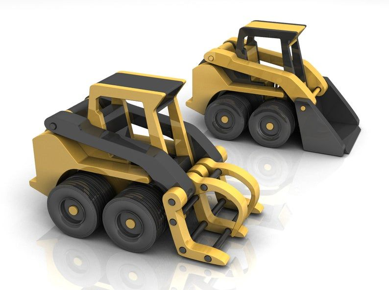 Peter B Utility Truck And Bobcat Skid Steer Wood Toy Plans Etsy Wood Toys Plans Wood Toys Bobcat Skid Steer