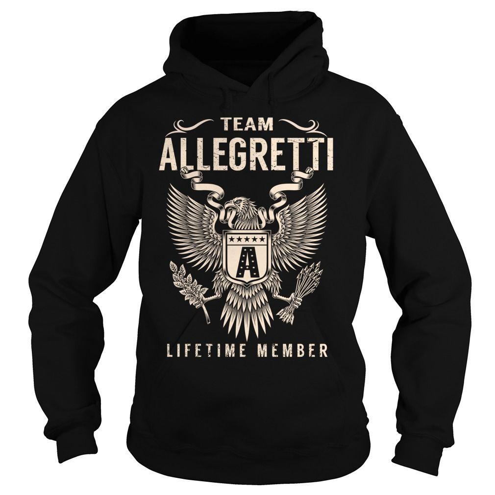 Team allegretti lifetime member last name surname tshirt