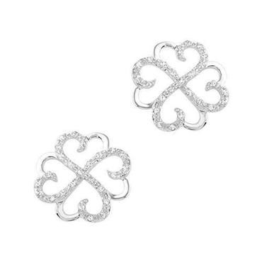 Diamond Four Leaf Clover Fashion Earrings 1/5ctw - Item 19316546 | REEDS Jewelers