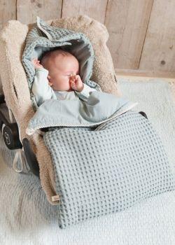 Babydecke Einschlagdecke Babyschale Fußsack Schlafsack Kinderwagen Warm Sanft