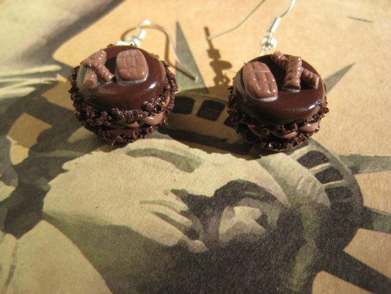 Macaron Earrings by TinyTinasCreations on Etsy, €10.96