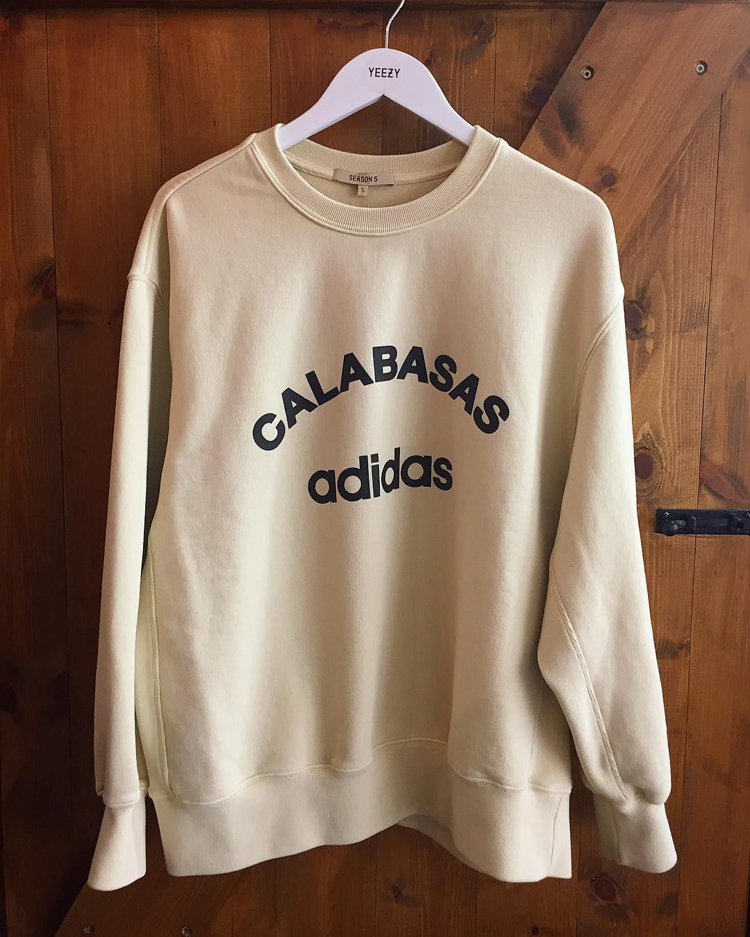 403b22e45 In store now - the Yeezy Season 5 'adidas Calabasas' sweat. We have XS - M  and it's priced 250. #Yeezy #season5 #calabasas #adidas #sweat #sweatshirt  ...
