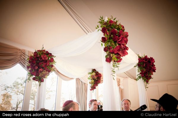 Jewish wedding chuppah with red roses uk blog wedbits jewish wedding chuppah with red roses junglespirit Image collections