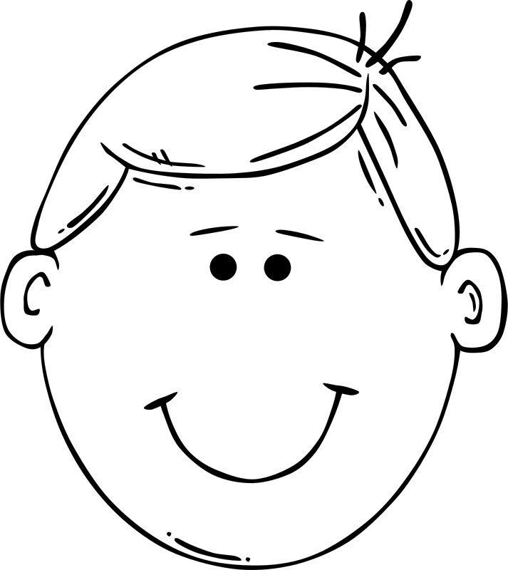 Clipart Man Face Cartoon Coloring Pages Face Outline Free Clip Art