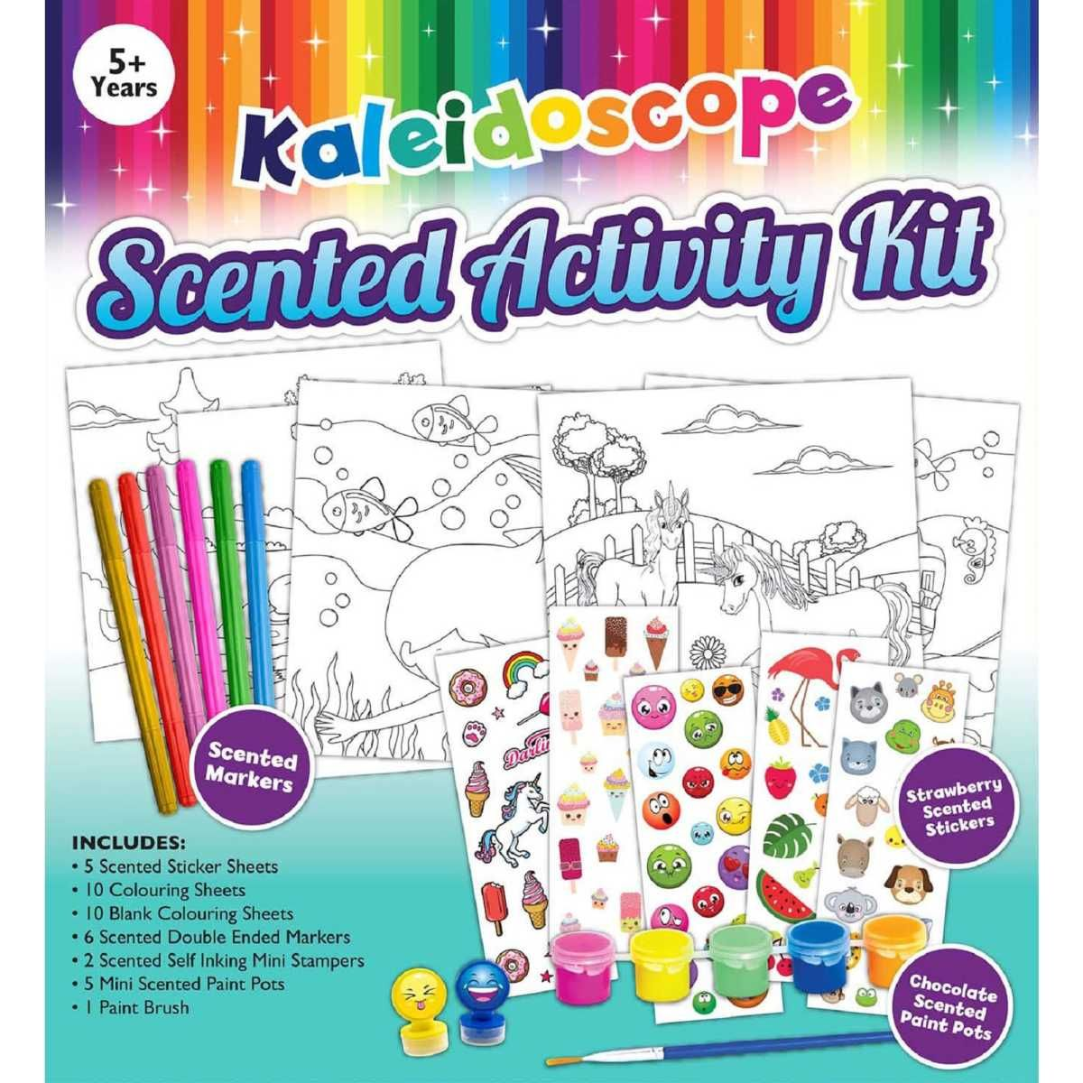 Big W Stickers Kaleidoscope Scented Activity Kit Amber Christmas Birthday