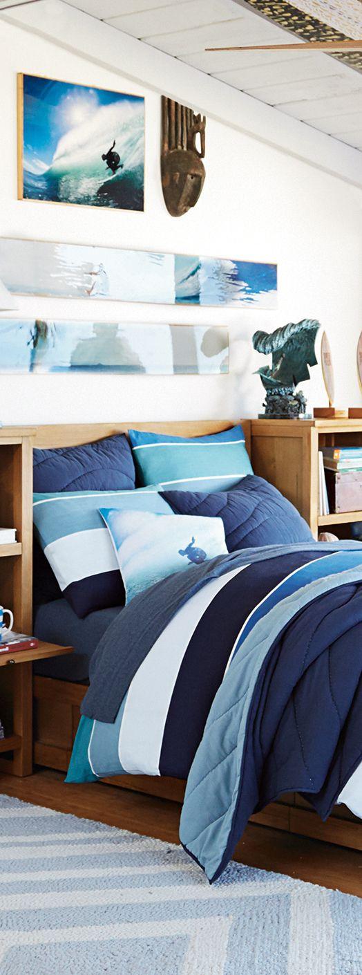 Boys Bedding in 2020 | Surf bedroom, Room, Surfer bedroom