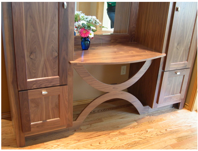 Great idea for entry area (2 narrow cabinets on either side of a bench or table).
