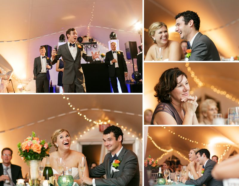 Lees Summit Elegant Longview Mansion Wedding Reception Toast Photo