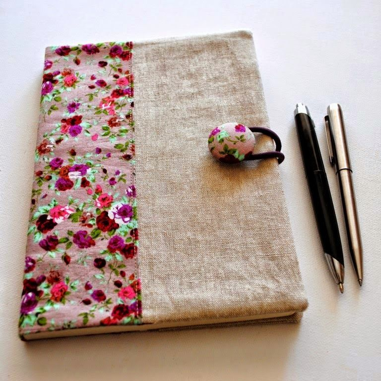 Fabric Book Cover Pattern Free ~ Tutorial how to make a fabric journal cover note books